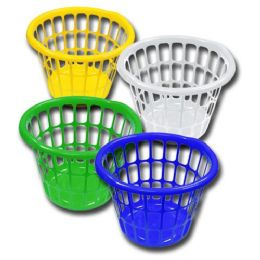 48 Units of Laundy Basket Bright Colors Assorted - Laundry Baskets & Hampers