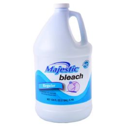 6 Units of Majestic Liquid Bleach Regular 128 Ounce - Laundry Detergent