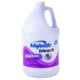 6 Units of Majestic Liquid Bleach Floral 128 Ounce - Laundry Detergent