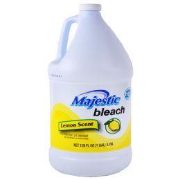 6 Units of Majestic Liquid Bleach Lemon 128 Ounce - Laundry Detergent