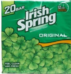 4 Units of IRISH SPRING 20 PK BAR SOAP 3.75 OZ ORIGINAL FEEL CLEAN & FRESH - Soap & Body Wash