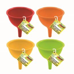 24 Units of SILICONE COLLAPSIBLE FUNNEL - Strainers & Funnels
