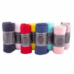 24 Units of Premium Fleece Throw Blankets - Fleece & Sherpa Blankets