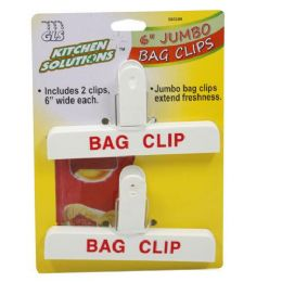 48 Units of Jumbo Bag Clips 6 Inch - Clips and Fasteners