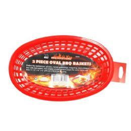 36 Units of 2 PIECE OVAL PLASTIC BBQ BASKETS - BBQ supplies