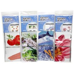 24 Units of FOIL KITCHEN WALL STICKER - Kitchen Gadgets & Tools