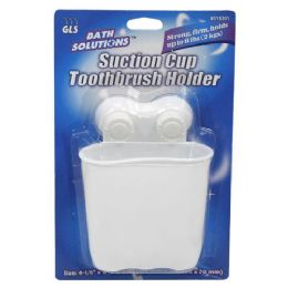 36 Units of SUCTION CUP TOOTHBRUSH HOLDER - Toothbrushes and Toothpaste