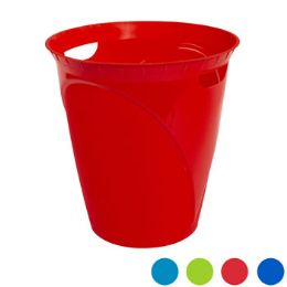 36 Units of Waste Basket With Handles 12.4x13 4 Colors - Waste Basket