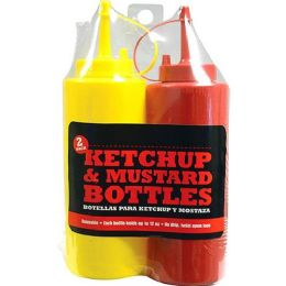 24 Units of 2 PACK KETCHUP AND MUSTARD BOTTLE - Kitchen Gadgets & Tools