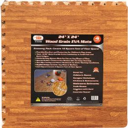 6 Units of Wood Grain Eva Mats - Home Accessories