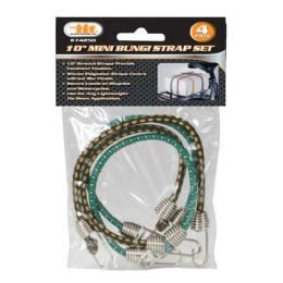 24 Units of Mini Bungee Strap Set 4 Piece - Bungee Cords