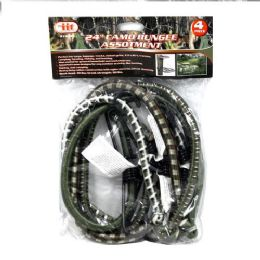 12 Units of Camo Bungee Assortment - Bungee Cords