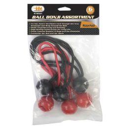 24 Units of Ball Bonji Assortment 6 Piece - Bungee Cords