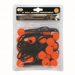 6 Units of 24 Piece Ball Bungee Assortment - Bungee Cords