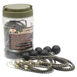 12 Units of 20 Piece Camo Ball And Mini Bungee S - Bungee Cords