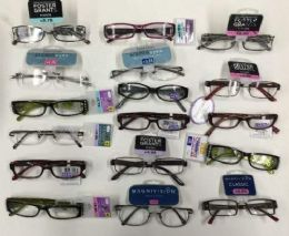 100 Units of Foster Grant, Magnivision, EZ Readers Branded Reading Glasses Assorted Strengths and Styles 1.25-3.25 Bulk Buy - Eye Wear Gear
