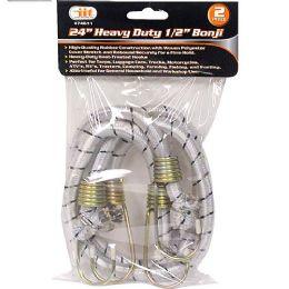 12 Units of 2 Piece Heavy Duty Bonji - Bungee Cords