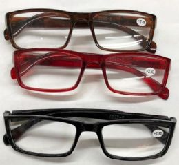 120 Units of Assorted Colors And Power Lens Plastic Reading Glasses Bulk Buy - Eye Wear Gear