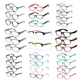 240 Units of Assorted Colors And Power Lens Plastic Reading Glasses Bulk Buy - Eye Wear Gear
