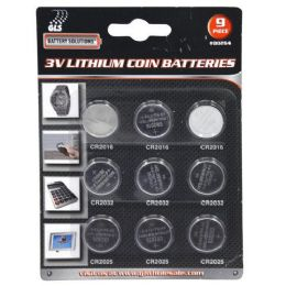 24 Units of 9 Piece 3V Lithium Coin Batteries - Batteries