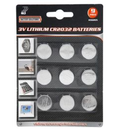 24 Units of 9 Piece Lithium CR2032 Batteries - Batteries