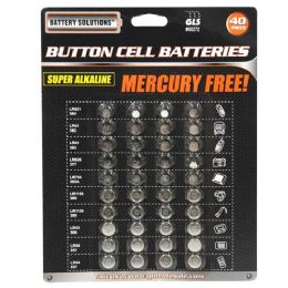 24 Units of 40 Piece Button Cell Batteries - Batteries