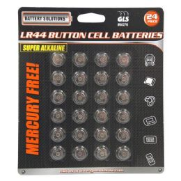 24 Units of 24 Piece AG13 Button Cell Batteries - Batteries