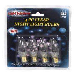 36 Units of 4 PIECE NIGHT LIGHT BULBS - Night Lights