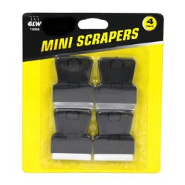 24 Units of 4 Pack Mini Scrapers - Box Cutters and Blades