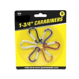 24 Units of 6 PIECES CARABINERS - Key Chains