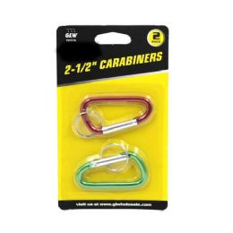 24 Units of 2 PIECES CARABINER KEYCHAIN - Key Chains