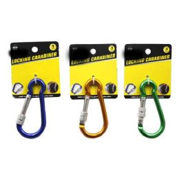 24 Units of Locking Carabiner - Key Chains