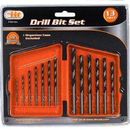 12 Units of 1 3Piece Drill Bit Set - Drills and Bits