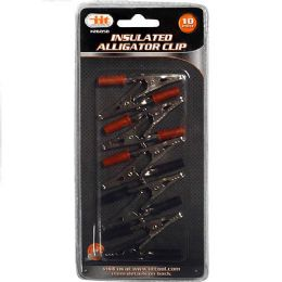 24 Units of 12 Piece Insulated Alligator Clip - Electrical