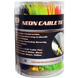 25 Units of 500 Piece Neon Cable Tie - Cables and Wires