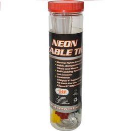 25 Units of 125 Piece Neon Cable Tie - Cables and Wires