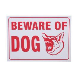 24 Units of BEWARE OF DOG SIGN - Signs & Flags