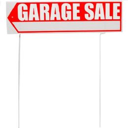 24 Units of GARAGE SALE SIGN WITH ARROW - Signs & Flags