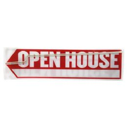 24 Units of OPEN HOUSE SIGN WITH ARROW - Signs & Flags