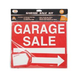 24 Units of 10 PIECE GARAGE SALE SIGN KIT - Signs & Flags