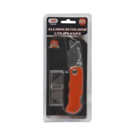 12 Units of FOLDING UTILITY KNIFE AND 5 BLADE - Box Cutters and Blades