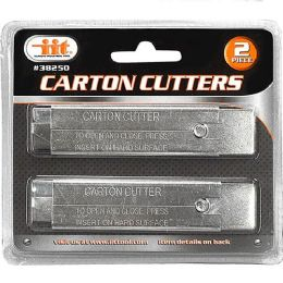 24 Units of 2 Piece Carton Cutters - Box Cutters and Blades