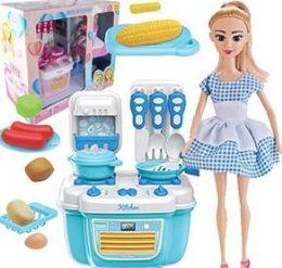6 Units of 10 Piece Chef Trendy Mini Kitchen Sets - Girls Toys