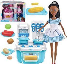 6 Units of Ethnic 10 Piece Chef Trendy Mini Kitchen Sets - Girls Toys
