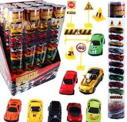 12 Units of 14 Piece Mighty Race Die Car Car Sets - Cars, Planes, Trains & Bikes