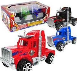 12 Units of Friction Powered Speed King Semi Cabs - Cars, Planes, Trains & Bikes