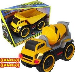12 Units of Friction Powered Construction Vehicles With LIghts And Sound - Cars, Planes, Trains & Bikes