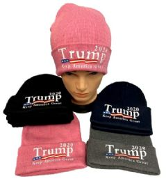 24 Units of Trump 2020 Keep America Great Winter Beanie Hat - Winter Hats