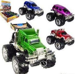 24 Units of Friction Powered 4 X 4 Big Wheel Trucks - Cars, Planes, Trains & Bikes