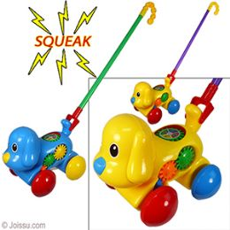 24 Units of Push and Pull Puppy Toy - Light Up Toys